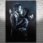 "Mobile phone Lovers Banksy Street Art Canvas Print Poster #2 24X18"""