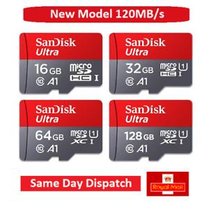 SanDisk Ultra Micro SD 32GB 64GB 128GB Class 10 SDHC SDXC Memory Card & Adapter
