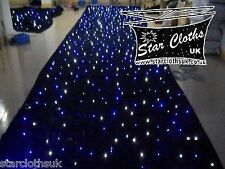 3m X 2m Starcloth Black white/blue LED STATIC Star Cloth  3 X 2