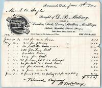 1901 D B MALONEY LUMBER*SHUTTERS MOULDINGS PAINTS ETC*TOWNSEND DELAWARE*DE*