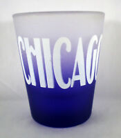 Chicago Blue Frosted Shot Glass
