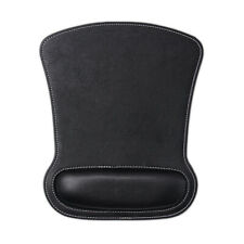 Non- Slip Leather Mouse Pad With Wrist Support Memory Foam For Laptop PC Macbook