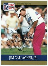 PGA Jim Gallagher Jr Signed Auto 1990 Pro Set Card #44 Tennessee TOUGH  C