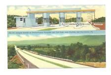 CARLISLE HARRISBURG PA Turnpike Toll Gate Vtg Postcard