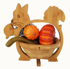 Eichhörnchen Schale Klappkorb Faltkorb 30x30cm Obstkorb Holz Untersetzer faltbar