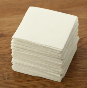 Square Glass Fusing Paper Sheets 50 Pcs Microwave Ceramic Fiber Household Kiln