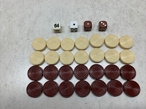 Sears Harvard Multi Game Arcade Table PARTS Backgammon Pieces And Dice