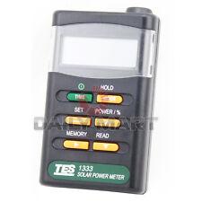 Digital Solar Power Meter TES-1333 Cell Energy Tester Radiation Detector NEW