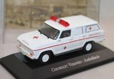 Chevrolet Veraneio Brazil Ambulance Rare Diecast Scale 1:43 New W/ Stand