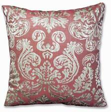 HC604a Light Burgundy Red Floral Jacquard Soft Cotton Cushion Cover/Pillow Case