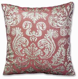 HC604a Light Burgundy Red Floral Jacquard Soft Cotton Cushion Cover/Pillow Case