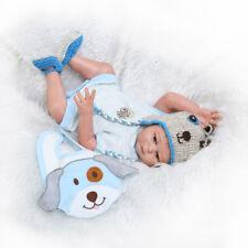 """20"""" Handmade Reborn Newborn Baby Doll Full Silicone Vinyl Bath Boy Gift Kid"""