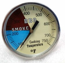 """2"""" 750 RWB BBQ CHARCOAL GRILL WOOD SMOKER OVEN PIT TEMP GAUGE THERMOMETER"""