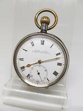 Antique solid silver gents H. Samuel pocket watch 1919 working ref1157