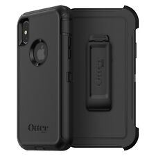 iPhone X Otterbox Defender Black Hard Case Belt Clip Dual Hybrid Double Layer