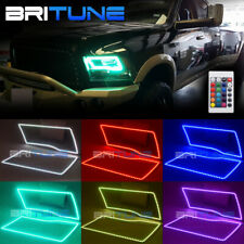 Multi-Color RGB SMD LED Angel Eyes DRL Halo Rings Kit For Dodge Ram Quad Trucks