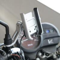 Supporto per cellulare in metallo per bici e moto con caricatore , supporto
