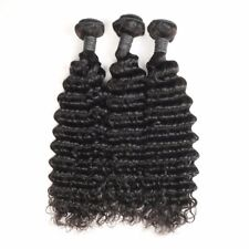 300g  Unprocessed Virgin Human Hair Weave Brazilian Deep Wave 1/3Bundles 9A