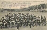AK Radfahrer Abteilung Unterrichtung Gefechtslage gel. 1917 Feld Post