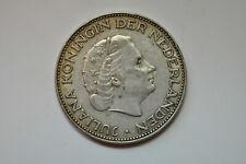 mw14197 Netherlands; Silver 2 1/2 Gulden 1960  KM#185