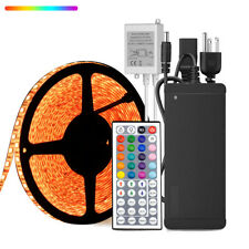 10M RGB 600Leds 5050 IP65 LED Strip Light+44Keys IR Controller+24V Power Supply