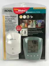 Royal Digital Wireless Thermometer Indoor / Outdoor Temperature & Time WS22