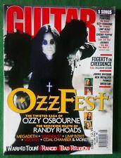 Guitar World Magazine Vol 18 #8~Ozzfest~Randy Rhoads~Megadeth~Sevendust~Soulfly