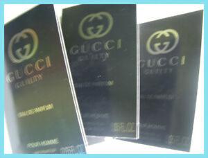Gucci GUILTY POUR HOMME 3 x 1.5ml EDP Eau de Parfum samples / vials (2020)