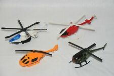 Mixed Diecast / Plastic Aircraft Lot: Rescue Army Swat Construction Helicopters