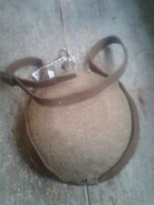 Civil War U.S. Cavalry Canteen W/Cover And Leather Strap