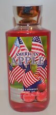 NEW BATH & BODY WORKS AMERICAN APPLE RED SHOWER GEL WASH SHEA VITAMIN E 10 OZ