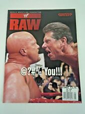 Wwf Raw Wrestling Magazine May 1999 Double Sided Ivory Poster