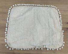 Martha Stewart Collection 1 Chenille Standard Sham Off White Cream Boho Fringe