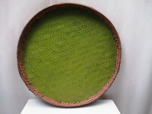 """Antique Burmese Basketry Sieve For Rice And Sesame for Kitchen Burma painted """" 4"""