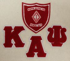 "KAPPA ALPHA PSI Chenille Letters - Shield Patch Set - 4 1/4"" x 4 1/4"" ea letter"