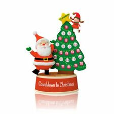 2014 HALLMARK ORNAMENT COUNTDOWN WITH MERRY THE ELF  NIB SOUND SANTA Free Ship