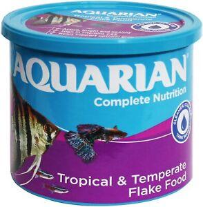AQUARIAN TROPICAL FISH FLAKE FOOD 200G FISH TANK AQUARIUM FLAKES NEW