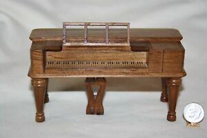 Miniature Dollhouse Lovely Vintage Spinet Piano Handicraft Designs  1:12 NR