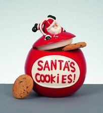 Christmas Tableware Santas Cookies Cookie Jar Biscuit Barrel NEW