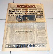 Tuttosport 2 giugno 1958 GIRO D'ITALIA Charly Gaul San Marino Coletto