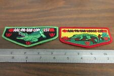 BOY SCOUTS AO LODGE 237 AAL-PA-TAH POCKET FLAP COLORED PATCH LOT