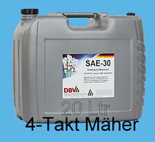 (EUR 2,84/L) Einbereichs-Motorenöl HD SAE 30, auch 4-Takt Rasenmäher | 20 L