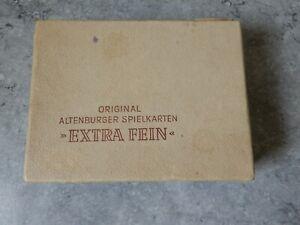 alte original Altenburger Spielkarten Extra fein
