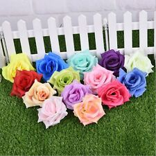 Faux Silk Rose Artificial Flower Heads Wedding Christmas Party Craft Decor 50pcs
