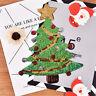 merry xmas sequins christmas tree cartoons happy diy applique irons on patc MW