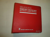 1983 Suzuki GN250 Service Repair Manual w/ Supplement BINDER 2 VOLUME SET OEM 83