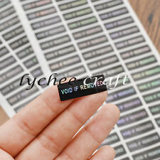 120 Pcs Disposable Labels Tamper Evident Hologram VOID Seals Stickers Warranty