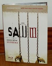 SAW III-DIGIPACK-BLU-RAY+LIBRO-EDICION LIMITADA-NUEVO-NEW-SEALED-(SIN ABRIR)-*R2