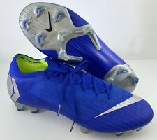 Nike Mercurial Vapor 12 Elite 360 Blue Silver Ah7380-401 Soccer Cleats Fg Sze 12
