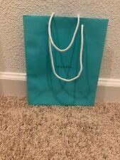 "Brand New Authentic Tiffany Blue Medium Paper Bag 9-3/4""x8"" x 4"""